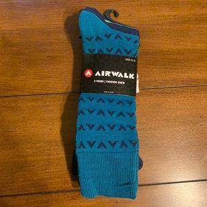 NWT Airwalk Fashion CREW MEN'S SOCKS 3 PAIRS